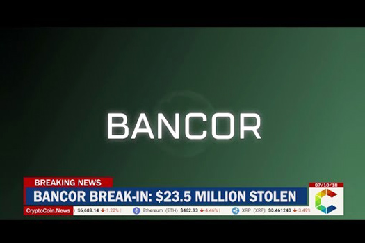 Bancor stolen tokens (BNT/NPXS) used to buy BTC